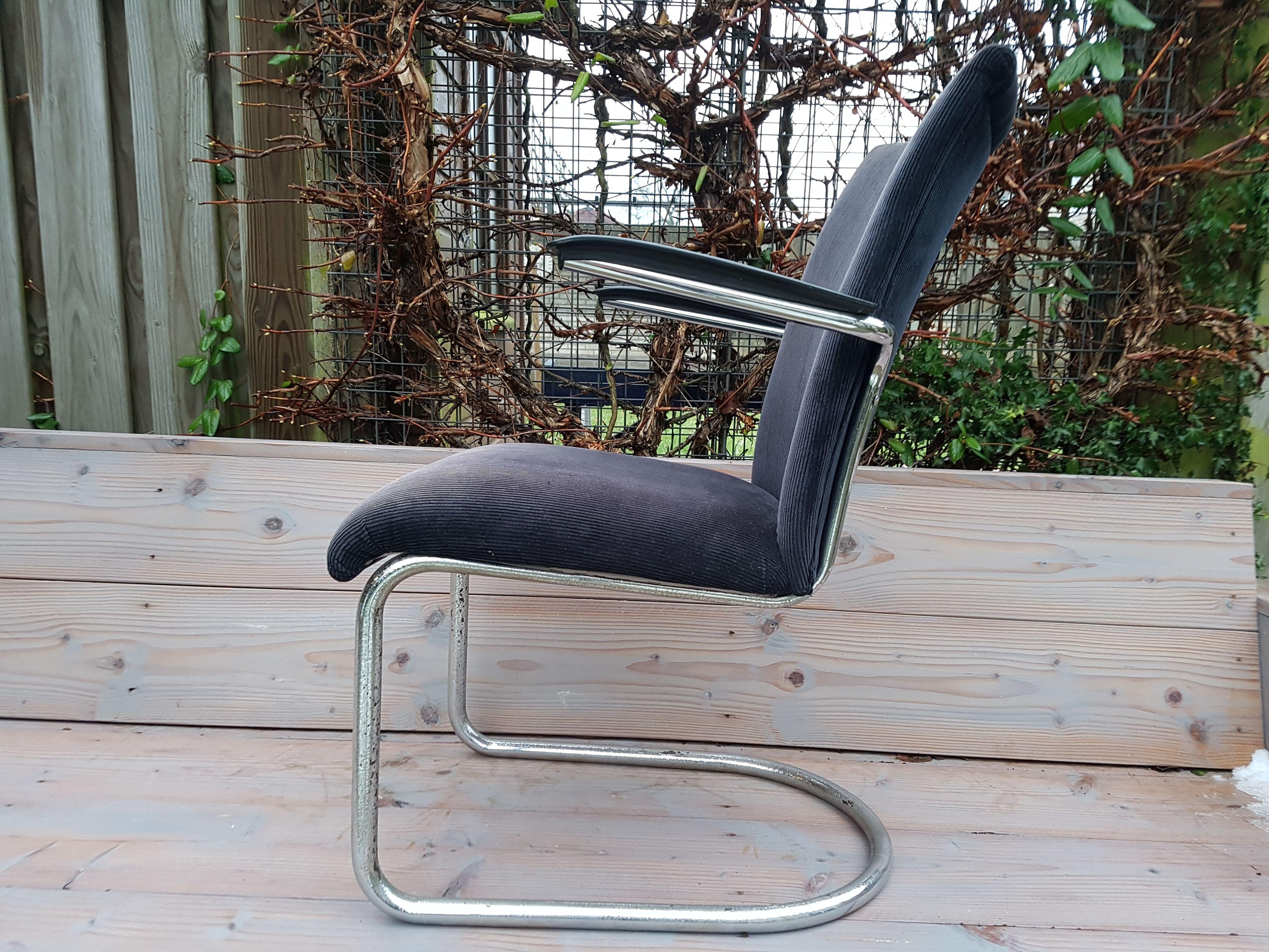 Jaren 50 Stoel : Originele gispen de wit stoel uit de fifties model in de