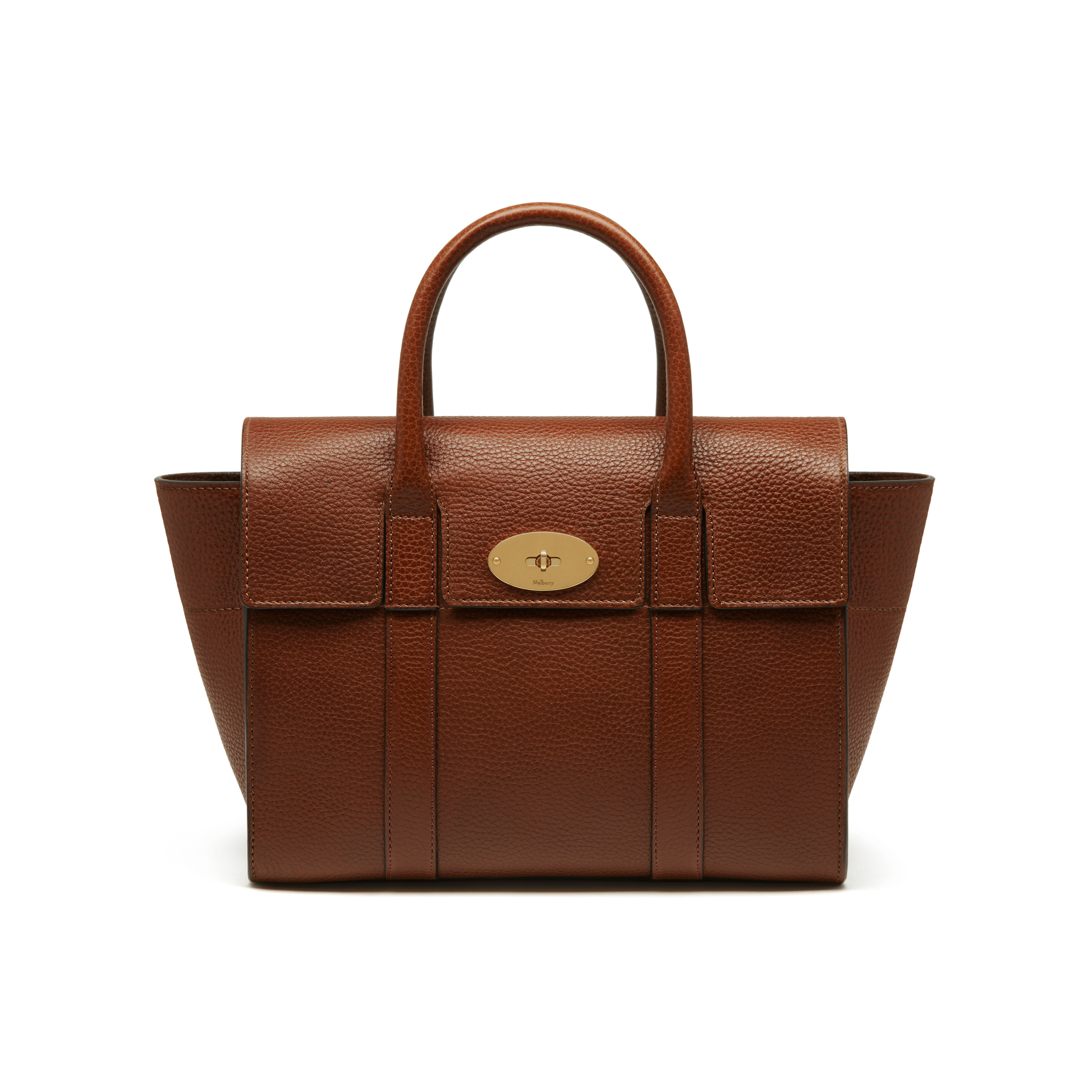 b87dea35d3 Mulberry - Small New Bayswater in Oak Natural Grain Leather ...