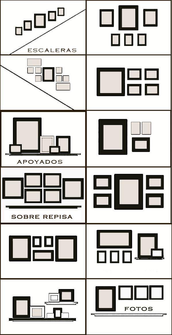Cómo hacer composiciones con cuadros | Frame gallery, Gallery wall ...