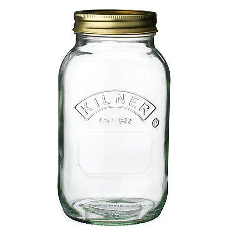 Kilner Preserve Jar 1l Jar Storage Jar Glass Preserving Jars