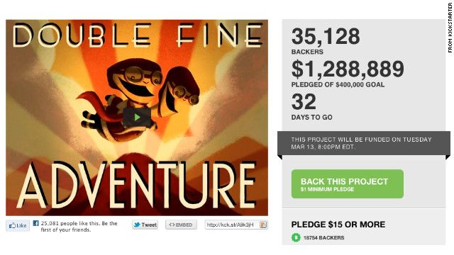 Crowd funded games... Wonder if the people who pledged get a free game?