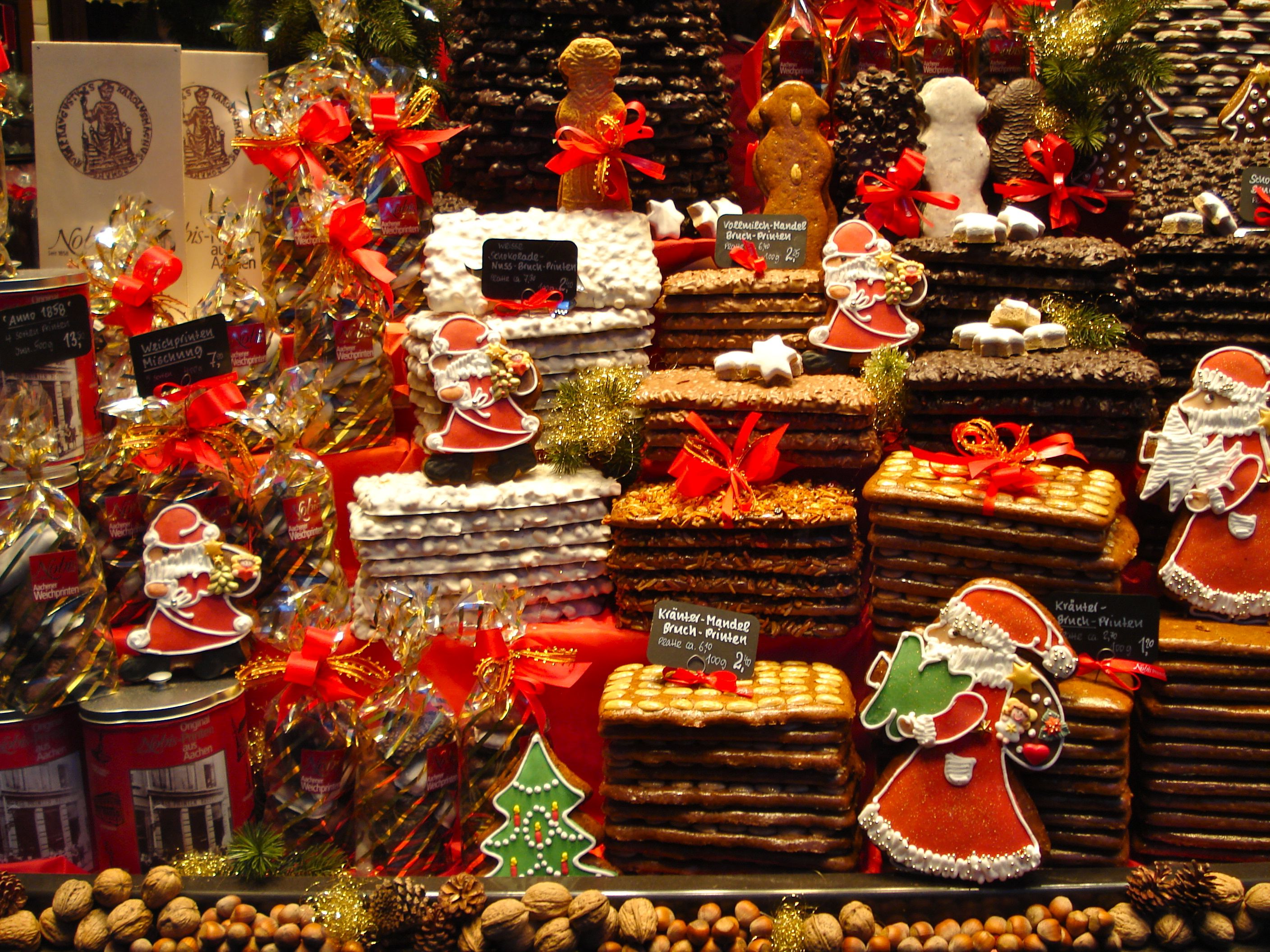 Traditional german christmas decorations - Bakeries Germany Christmas Market Bakery Aachen Germany Christmas