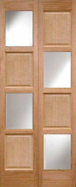 Glazed bifold doors, oak folding doors, Custom bifold doors, 35mm ...
