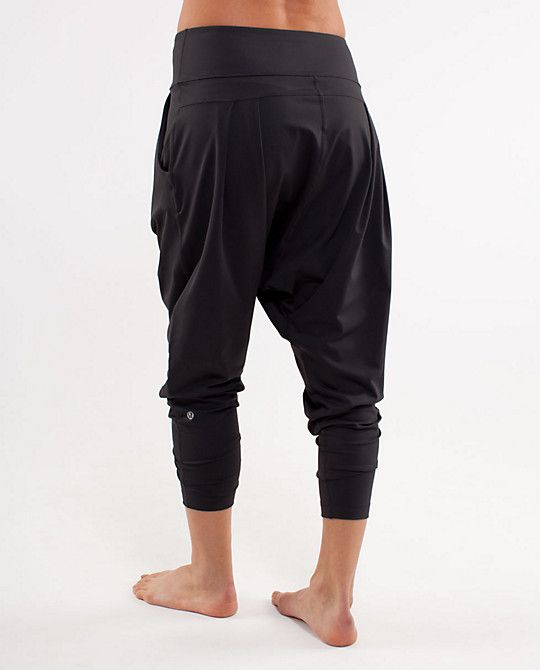 Lululemon Happy Hatha Crop Can't travel without harem pants.