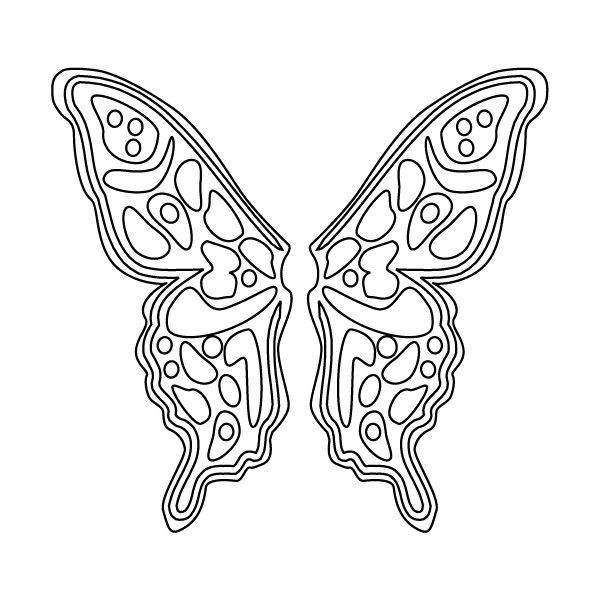 Free Angel Wings Printable Fairy Wings Coloring Sheet Butterfly