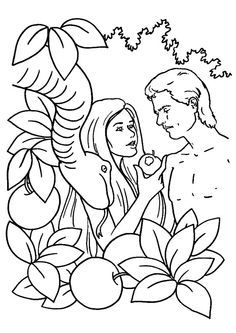 25 Best Adam And Eve Coloring Pages For Your Toddler Adam And