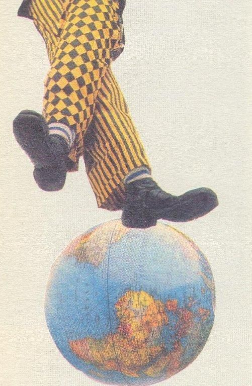 Collage Postcard by Wislawa Szymborska (to Ireny Szymanskiej & Ryszarda Matuszewskiego, 1988)