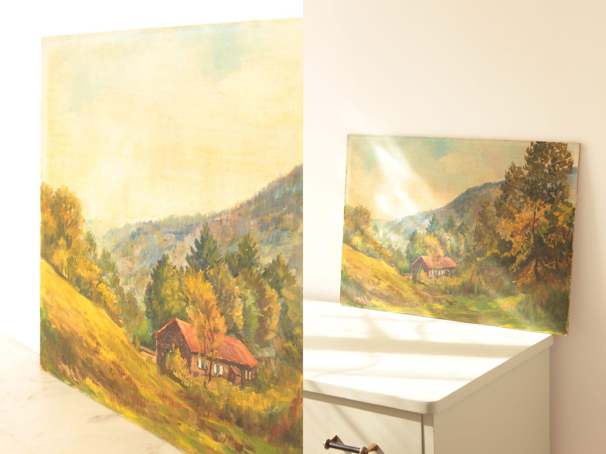 tableau décoratif chambre enfant vintage paysage TRENDY LITTLE