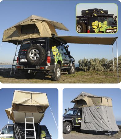 Ironman 4x4 Rooftop Tent. I want this with a four door Jeep Brute.