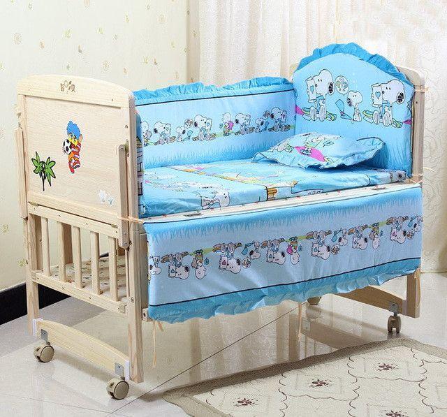 5pcs Baby Crib Bedding Set Kids Bedding Set 100x58cm Newborn Baby Bed Set Baby Crib Sets Baby Crib Bedding Sets Kids Bedding Sets
