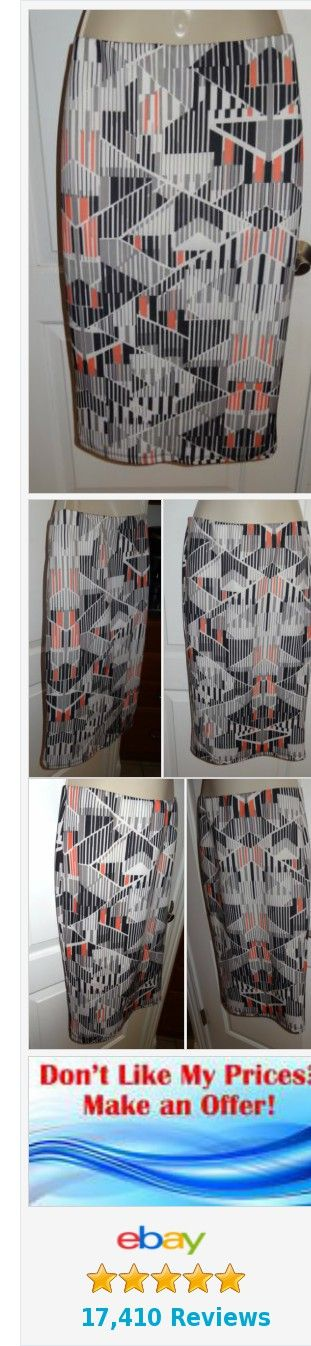 Mossimo Skirt Sheath Pencil Black White Peach Gray Print Women's Sz Small S - SB   eBay http://www.ebay.com/itm/-/352104918961?