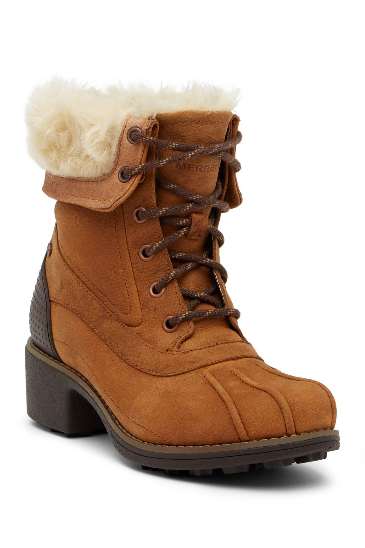 c0256aab32d Chateau Mid Lace Faux Fur Trimmed Waterproof Boot