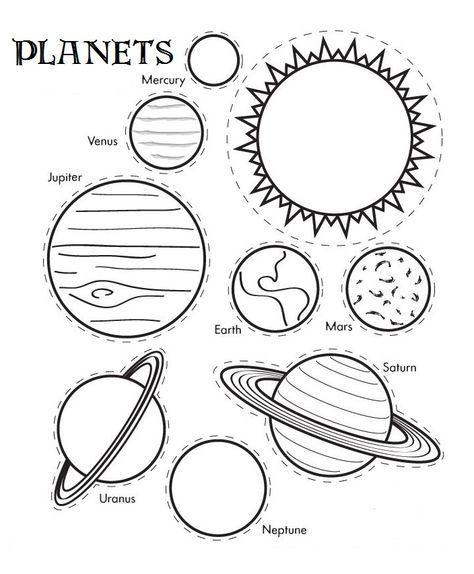 planetas para colorear | English | Pinterest | Planetas para ...
