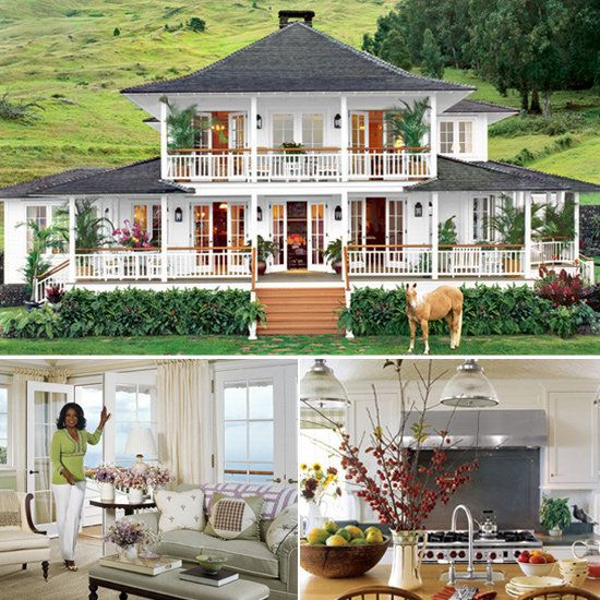 happy birthday oprah peek inside her homes for the home pinterest maison maisons. Black Bedroom Furniture Sets. Home Design Ideas