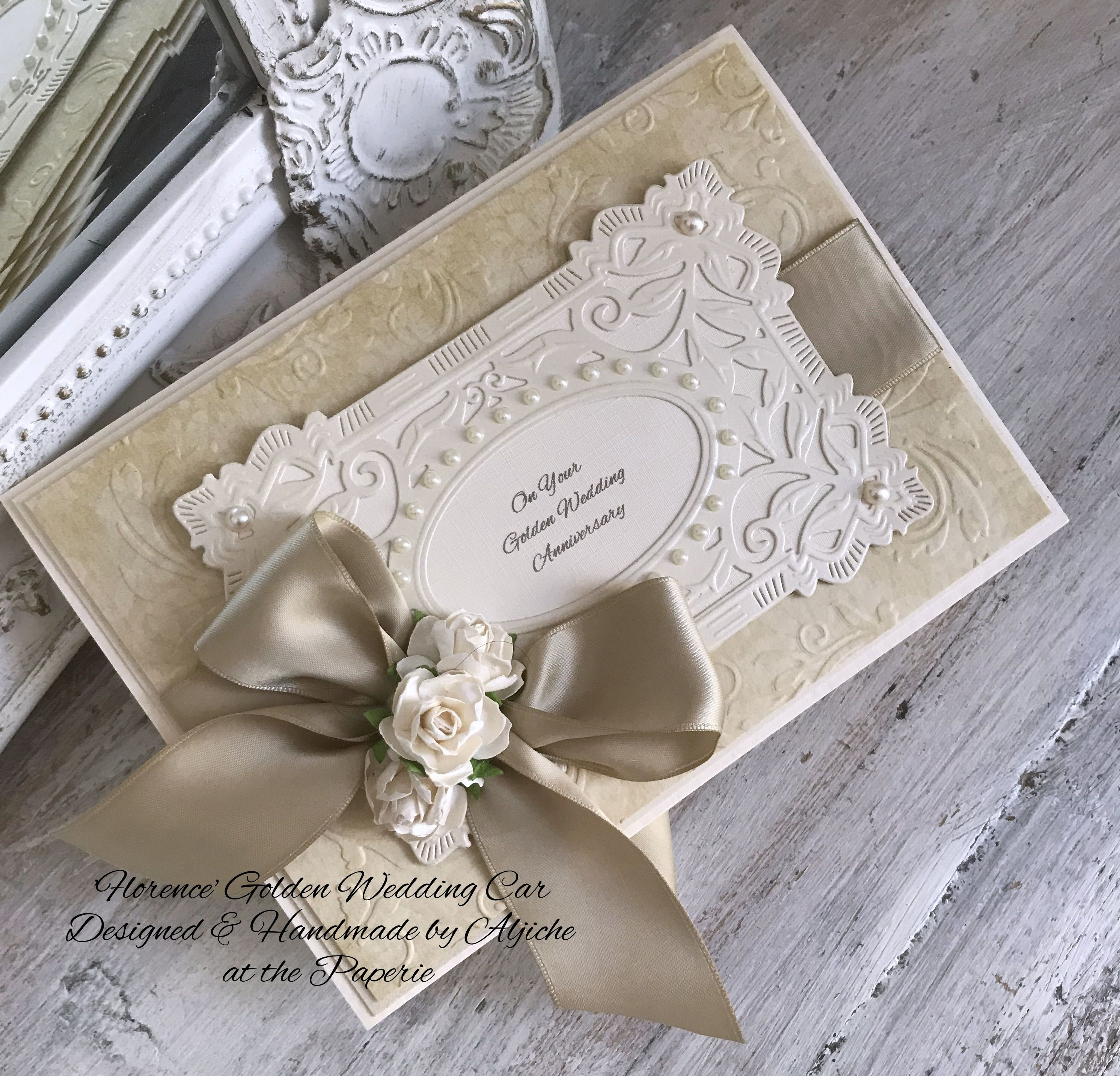 'florence'  personalised wedding cards golden wedding