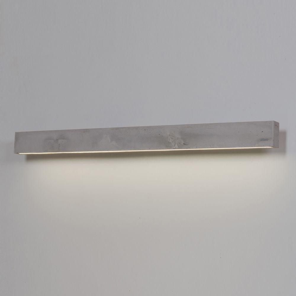 C LINE Längliche LED Wandleuchte Aus Beton. Fein Gearbeitet In Massivem  Material. Die