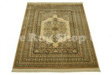 Tabriz 1426 2626 Beige Faux Silk Traditional Rug