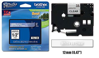Tze 135 Brother P Touch Label Tape 1 2 Brother Label Maker Brother Tape