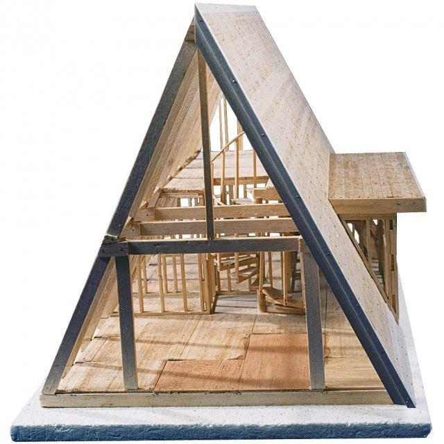 Casa Pe Structura De Lemn Cu Forma Literei A Interior Exterior A Frame Cabin Plans A Frame House Plans Tiny House Cabin