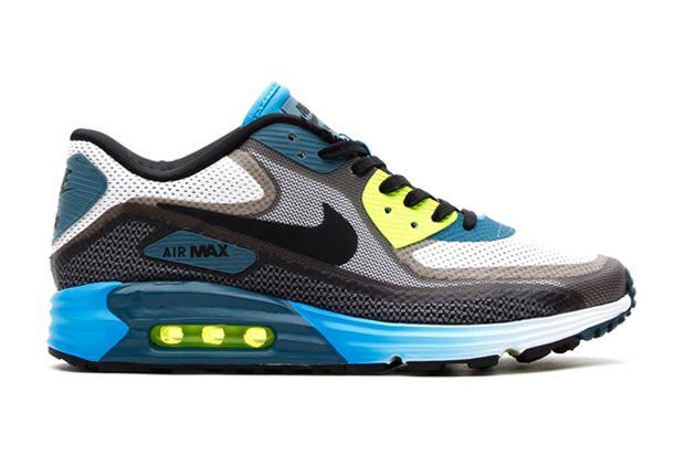 on sale 89e42 134ec Image of Nike 2014 Spring Air Max Lunar90 Light Grey Black Vivid Blue-Volt