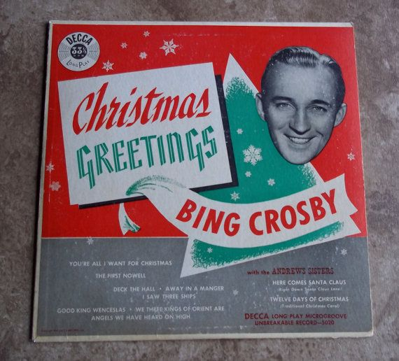 1949 Christmas Greetings Bing Crosby With The By Gonetotexas Bing Crosby Christmas Greetings Classic Christmas Songs