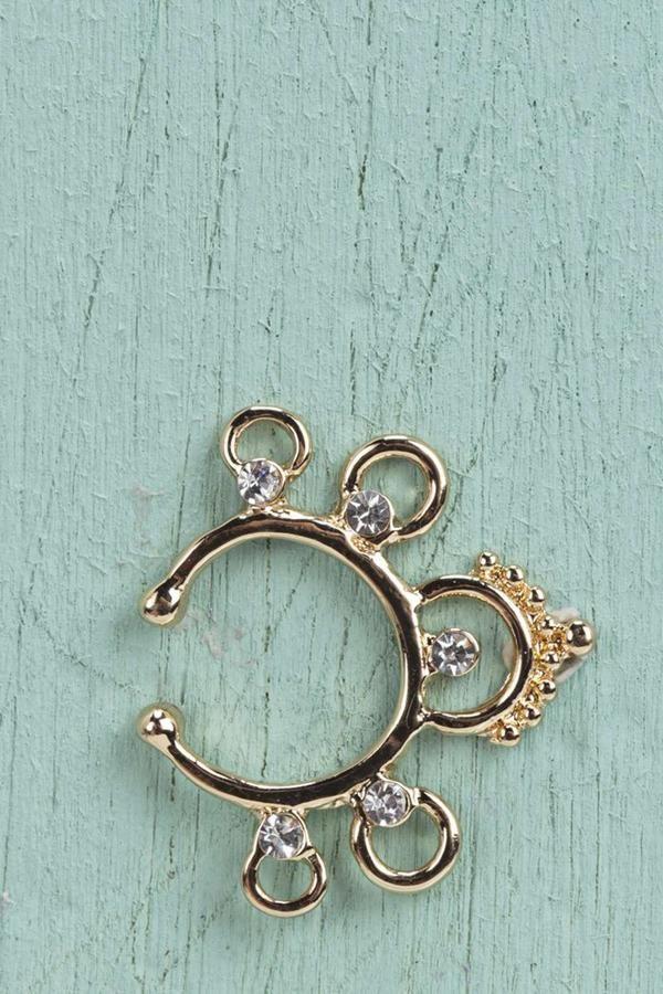 Amy Faux Diamante Detail Septum Ring  0b1c6da22eea9