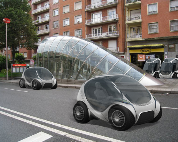 Hiriko Stackable Electric Citycar For Future Urban Mobility Tuvie Car In The World City Car Small Cars