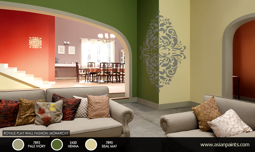 Living Room Colour Combination Asian Paints a bold usage of patterns and textures adds character to the space