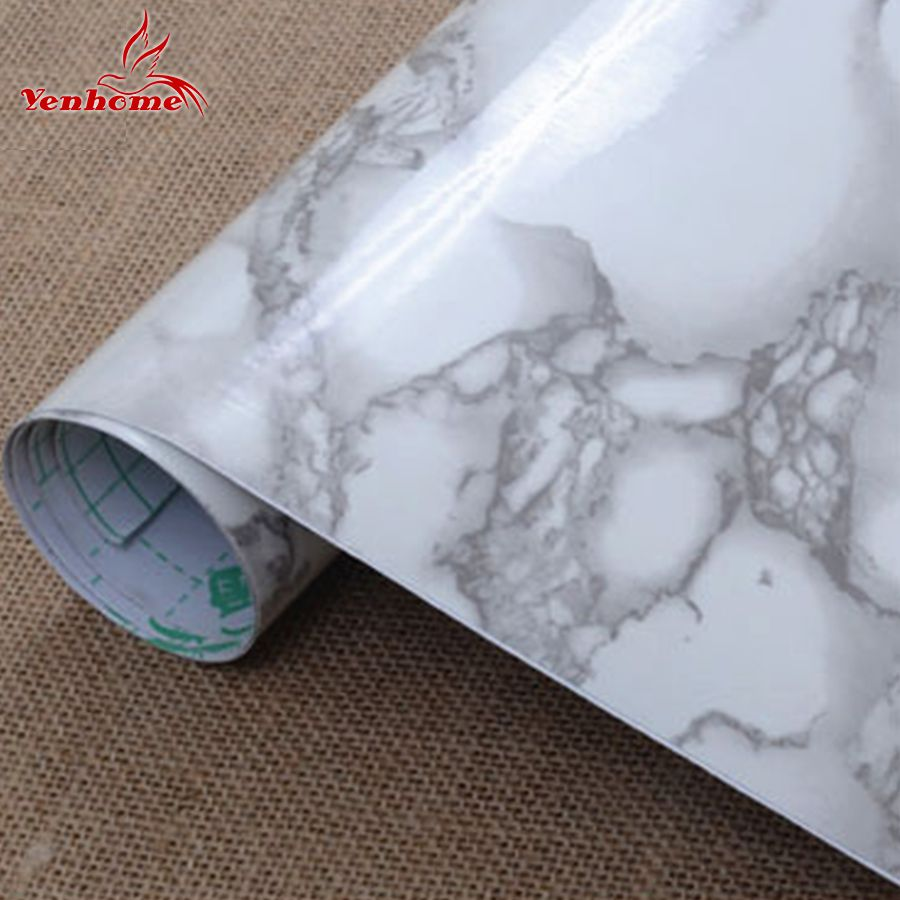 3M Vinyl Marble Waterproof Self Adhesive Wallpaper Roll For Bath Kitchen  Countertop Cupboard Cabinet Home Decor