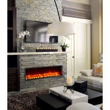 Orren Ellis Crafton Wall Mounted Bio Ethanol Fireplace Built In
