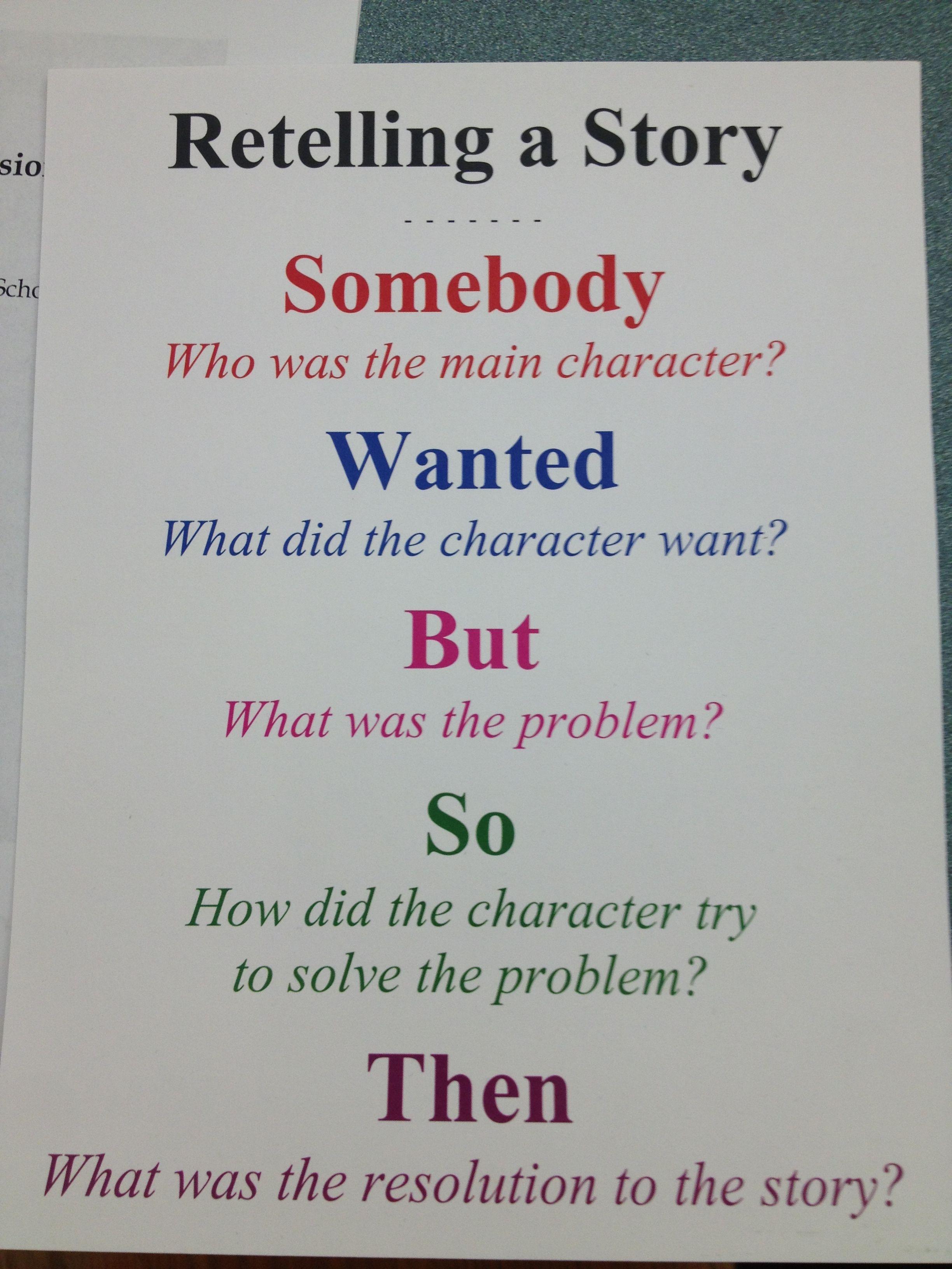 Story Retelling In 1 2 Sentences