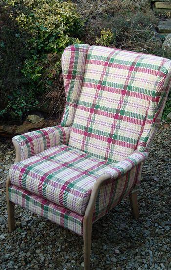 Tartan Parker Knoll Reading Chair 1950s Reading Chair