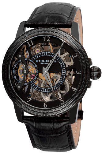 stuhrling original men s 228 33551 symphony saturnalia bru a stuhrling original men s 228 33551 symphony saturnalia bru a mechanical skeleton black watch stuhrling original