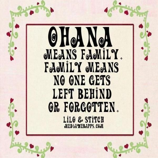 Ohana Means Family Quote Tattoo: Ohana Means Family, And Family Means Nobody Gets Left