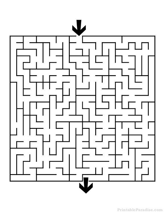 Current image intended for printable mazes medium