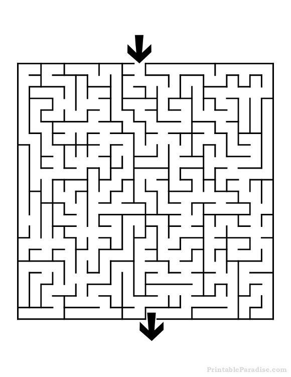 Gorgeous image with regard to printable mazes medium