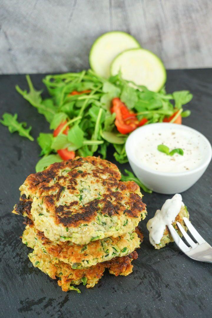 Zucchini Buffer Rezept  kalorienarm fettarm und gesund  Vegane und vegetarische Rezepte