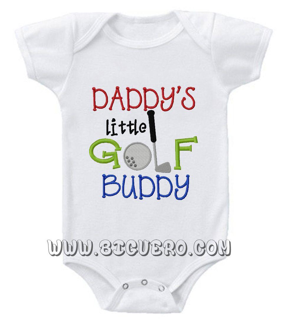 767fc34b991f7 Daddy's Golf Buddy Baby Onesie   Baby Onesies   Unique baby clothes ...