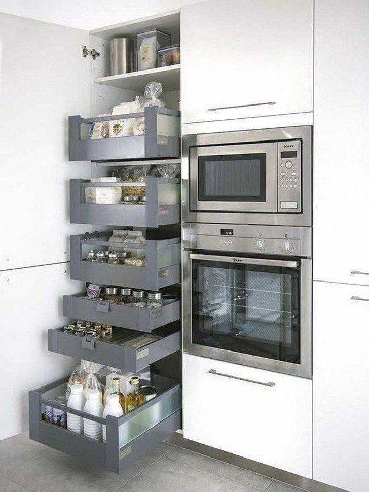 48 Gorgeous Corner Cabinet Storage Ideas For Your Kitchen Cabinetstorage Cabinetstorageideas Kitchenc Kitchen Design Small Home Decor Kitchen Kitchen Design