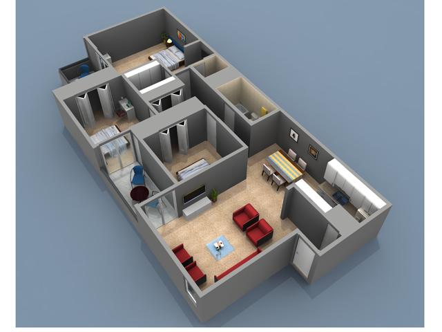 3 Bedroom 3 Bath Floor Plan With 1176 Sq Feet Of Living Space Rivercrest Apartments 7928 La Riviera Drive Sacramento C Floor Plans Flooring Living Spaces