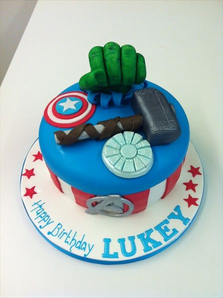 perfect marvel cake for a geeky 21 year old Birthdays Pinterest