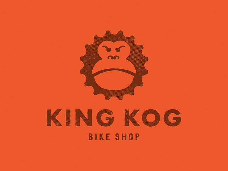 King Kog Logo With Images Branding Shop Bike Logo