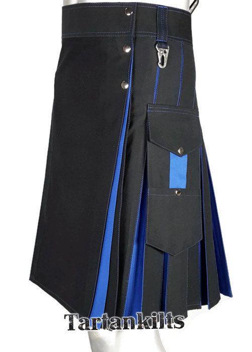 Black & Blue Hybrid Fashion Kilt oZDP0H9lJ1