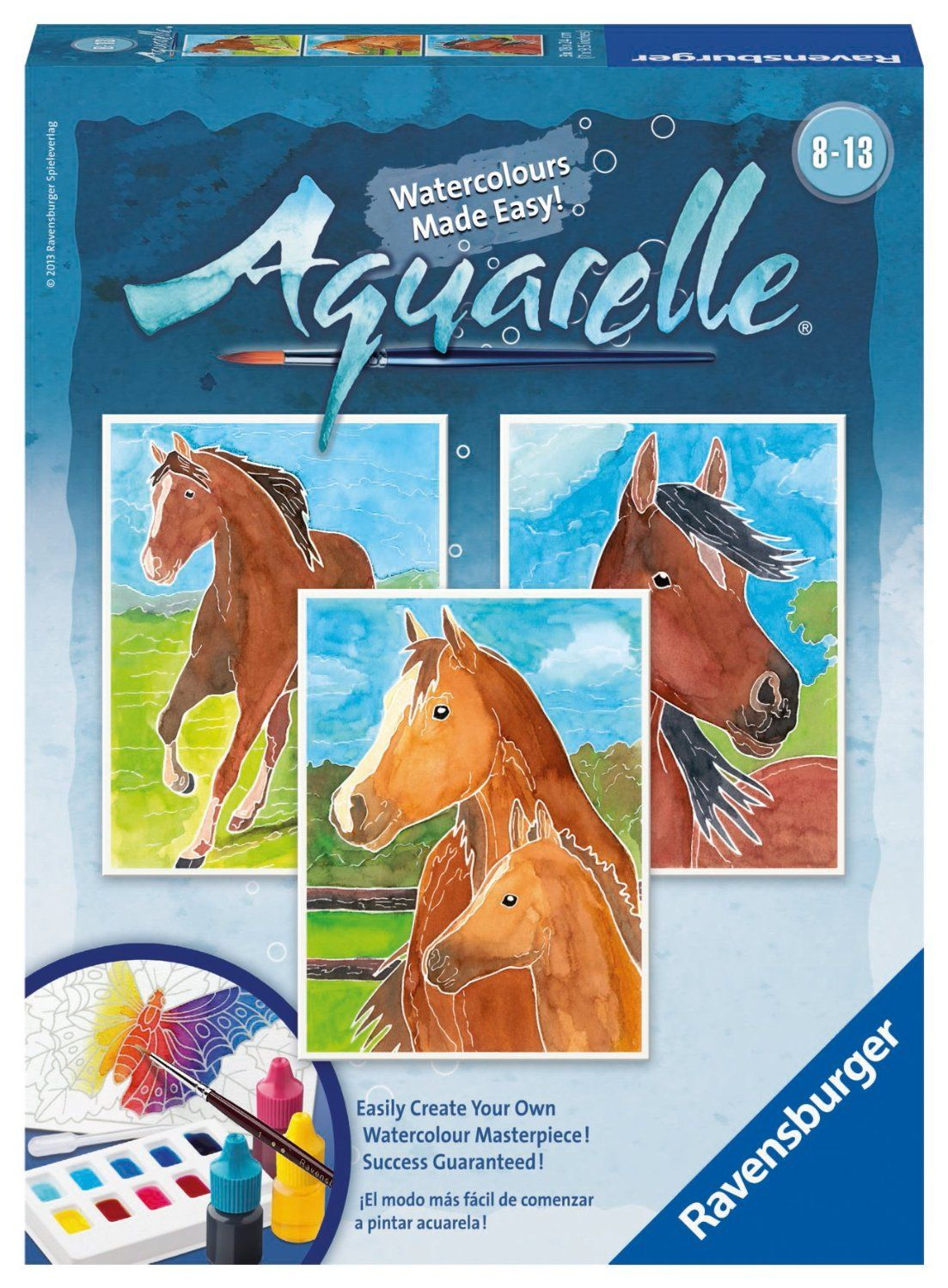 Ravensburger Aquarelle Horses Watercolor Arts And Crafts Kit
