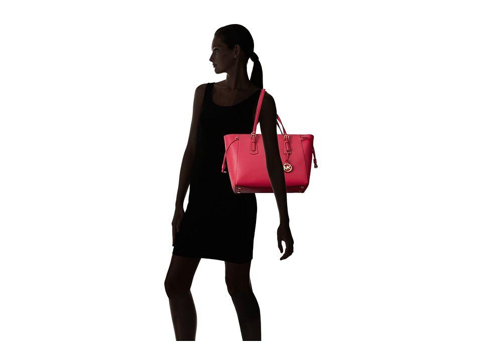 e3fbebb53d189e MICHAEL Michael Kors Voyager Medium Top Zip Tote Handbags Ultra Pink ...