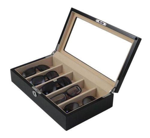 ab91bd18f41fb Luxury-wooden-sunglasses-case-Eyeglass-storage-Eyewear-display-box -gloss-black