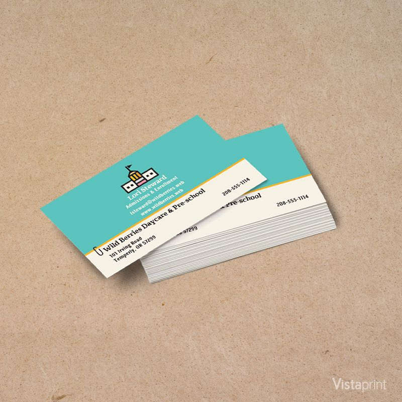 Educational Consultant Business Cards Vistaprint Educational Consultant Consultant Business Back To School