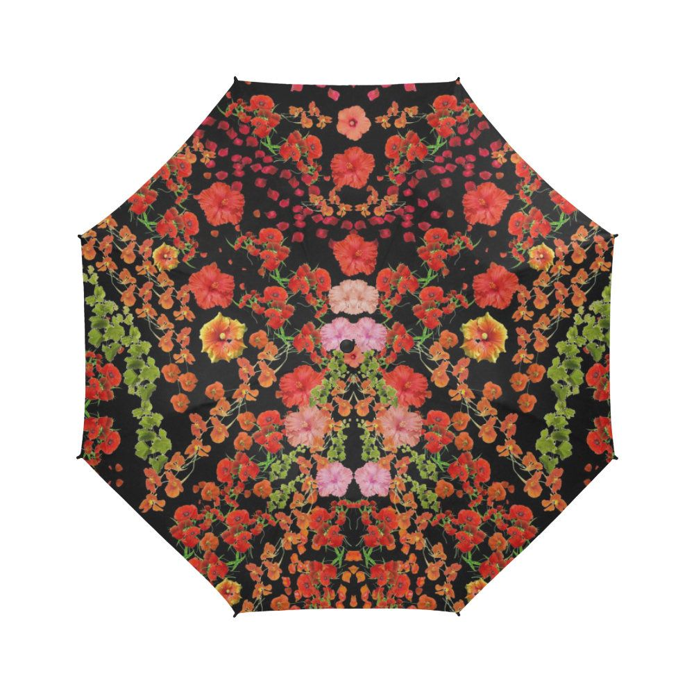 flowers-Large umbrella- Rain and sun- customizable-Handpainted design
