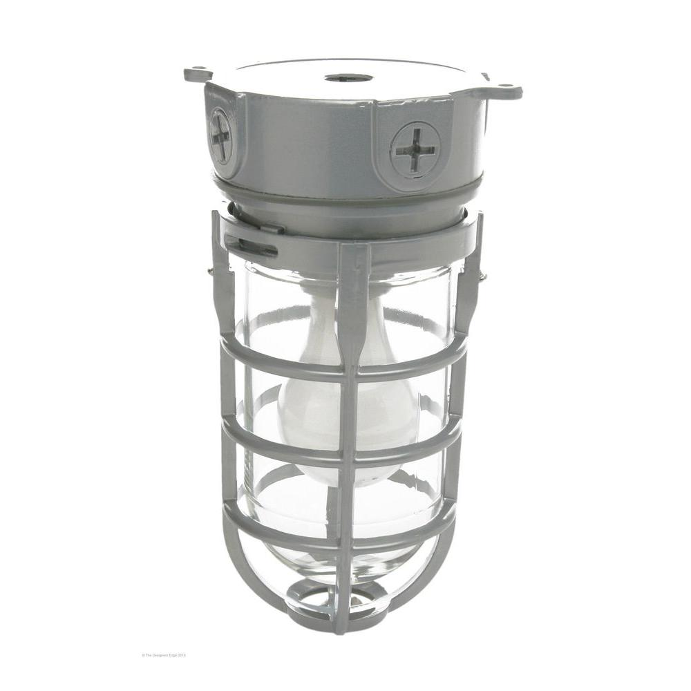 Southwire Industrial 1 Light Gray Outdoor Weather Tight Flushmount