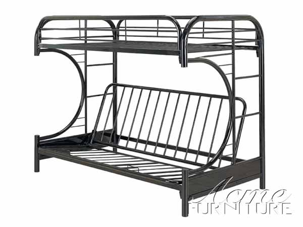 eclipse black twin full futon  u0026 bunk bed  2091bk  by acme furniture eclipse black twin full futon  u0026 bunk bed  2091bk  by acme      rh   pinterest